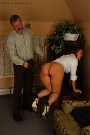 Real Spankings - Cindy Is Spanked On The Table - image 13