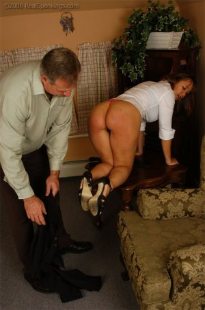 Real Spankings - Cindy Is Spanked On The Table - image 11