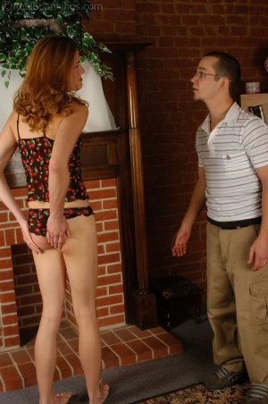 Real Spankings - Monica Is Not Ready For Guests - image 14