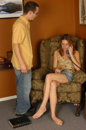 Real Spankings - Monica Is Spanked For Her Overspending - image 2