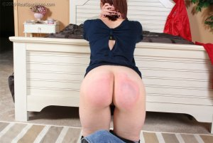 Real Spankings - New Studio: Kailee Receives A Hard Strapping In The Bedroom By Mr. M - image 3