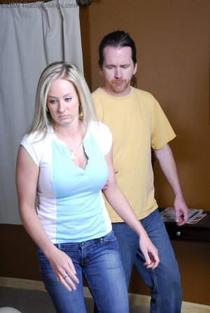 Real Spankings - Riley Caught Texting - image 4