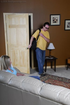 Real Spankings - Riley Caught Texting - image 10