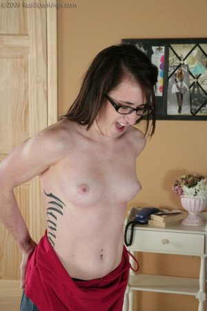 Real Spankings - Lexi's Bare Breasted Punishment - image 7