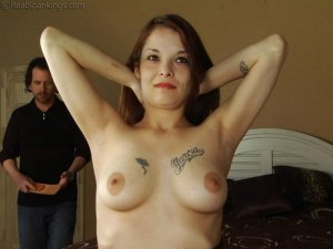 Real Spankings - Maggie's Bare Breasted Punishment - image 4