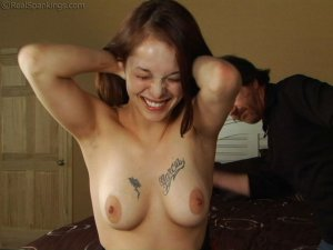 Real Spankings - Maggie's Bare Breasted Punishment - image 17