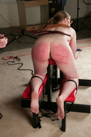 Real Spankings - Ivy's Restrained Multiple Implement Spanking - image 3