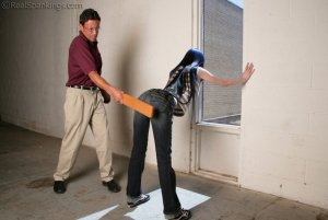 Real Spankings - Lila Paddled For Distrupting Class - image 3