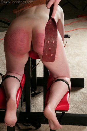 Real Spankings - Ivy's Restrained Multiple Implement Spanking - image 2