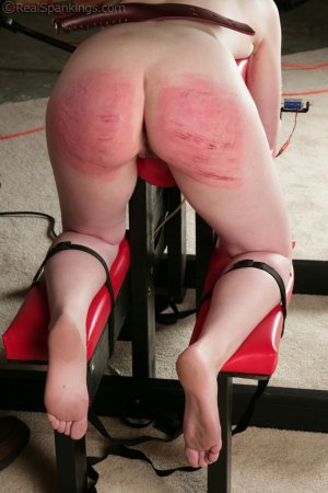 Real Spankings - Ivy's Restrained Multiple Implement Spanking - image 5