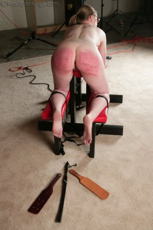 Real Spankings - Ivy's Restrained Multiple Implement Spanking - image 7