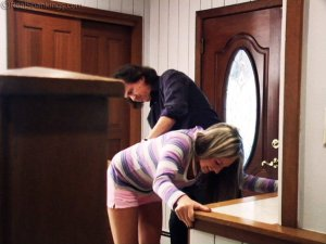 Real Spankings - Riley Paddled For Coming Home Late - image 7