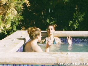 Real Spankings - Jade And Betty Hot Tub Strapping (part 1 Of 2) - image 7
