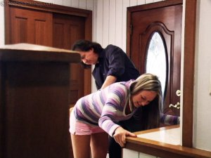 Real Spankings - Riley Paddled For Coming Home Late - image 4