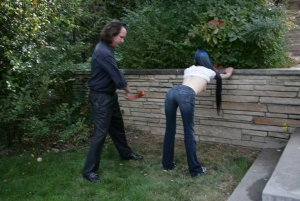 Real Spankings - Lila's Outdoor Bare Breasted Strapping - image 8
