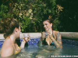 Real Spankings - Jade And Betty Hot Tub Strapping (part 1 Of 2) - image 6
