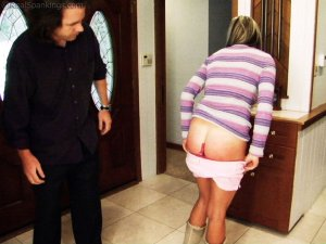 Real Spankings - Riley Paddled For Coming Home Late - image 6