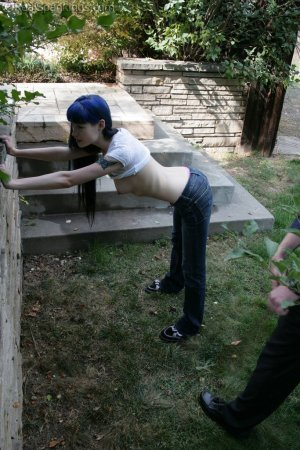 Real Spankings - Lila's Outdoor Bare Breasted Strapping - image 6