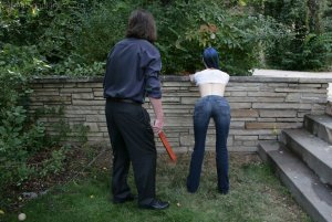 Real Spankings - Lila's Outdoor Bare Breasted Strapping - image 11