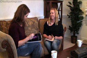 Real Spankings - Betty And Brooke: Girl Talk - image 1