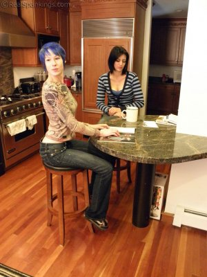 Real Spankings - Lila Confronted About Report Card - image 12