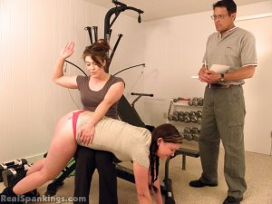 Real Spankings - Frankie And Betty Caught Slacking Off (part 1 Of 2) - image 2