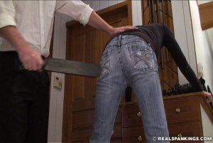 Real Spankings - Monica Caught Sneaking Out - image 4