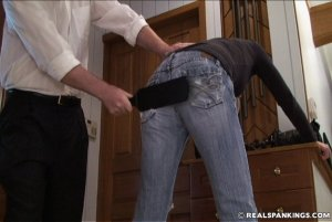 Real Spankings - Monica Caught Sneaking Out - image 1