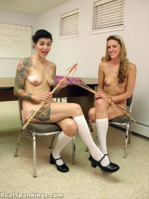 Real Spankings - Monica And Jade Naked Caning (part 1 Of 2) - image 7