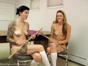 Real Spankings - Monica And Jade Naked Caning (part 1 Of 2) - image 5