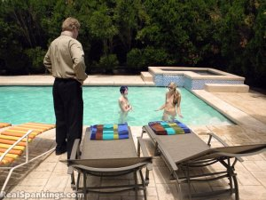 Real Spankings - Lila And Monica Caught Nude In The Pool (part 1: Lila) - image 18