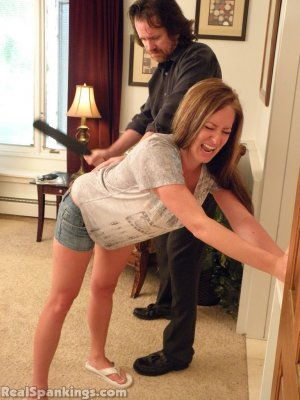 Real Spankings - Riley Spanked For Being Late - image 7