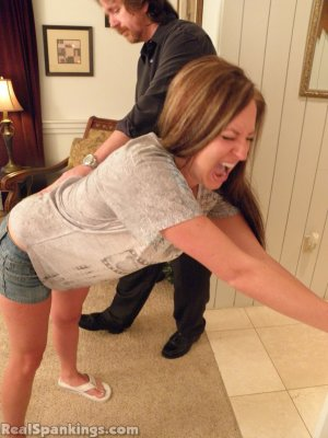 Real Spankings - Riley Spanked For Being Late - image 9
