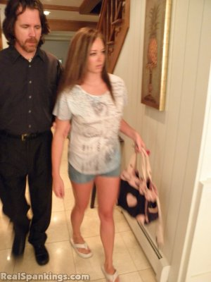 Real Spankings - Riley Spanked For Being Late - image 8