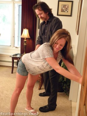 Real Spankings - Riley Spanked For Being Late - image 15