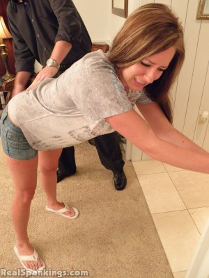 Real Spankings - Riley Spanked For Being Late - image 12