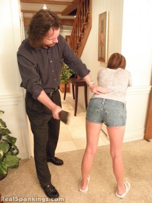 Real Spankings - Riley Spanked For Being Late - image 18