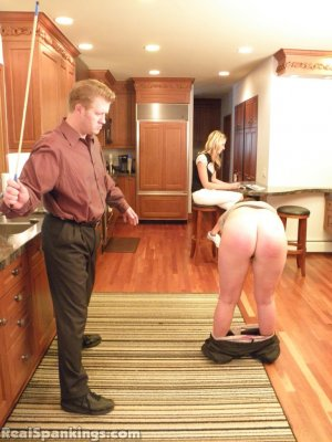 Real Spankings - Frankie And Monica Spanked For Denting The Car (part 1 Of 2) - image 18