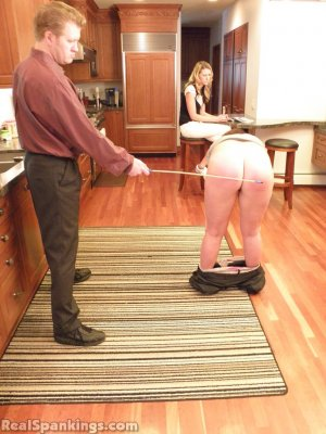 Real Spankings - Frankie And Monica Spanked For Denting The Car (part 1 Of 2) - image 12