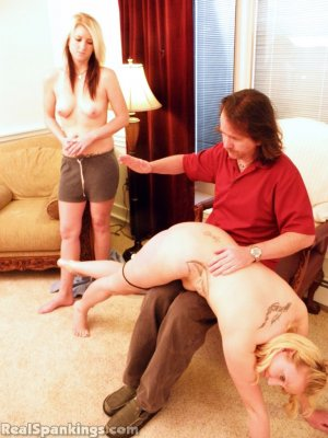 Real Spankings - Summer And Brooke Hand Spanked For Coming Home Late (part 2 Of 2) - image 5