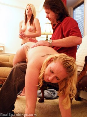 Real Spankings - Summer And Brooke Hand Spanked For Coming Home Late (part 2 Of 2) - image 16