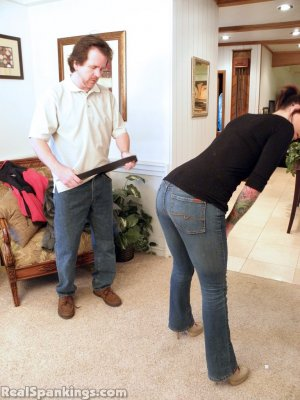 Real Spankings - Jade Spanked By Mr. M (part 1 Of 2) - image 1