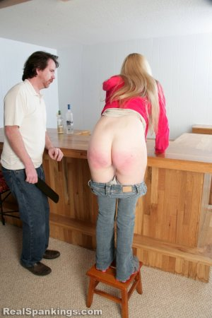 Real Spankings - Chloe Caught Sneaking Alcohol - image 17