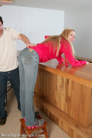 Real Spankings - Chloe Caught Sneaking Alcohol - image 12