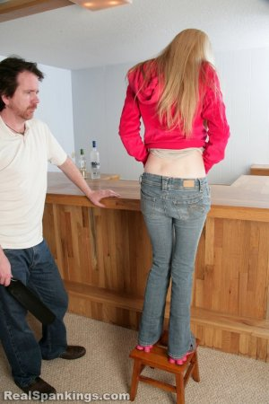 Real Spankings - Chloe Caught Sneaking Alcohol - image 8