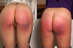 Real Spankings - Riley And Jade Spanked With The Belt (part 2 Of 2) - image 8