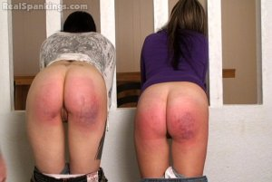 Real Spankings - Riley And Jade Spanked With The Belt (part 2 Of 2) - image 2