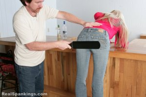 Real Spankings - Chloe Caught Sneaking Alcohol - image 14
