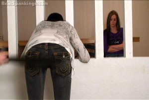 Real Spankings - Riley And Jade Spanked With The Belt (part 2 Of 2) - image 12