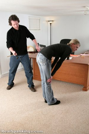 Real Spankings - Lila And Monica Caned By The Principal (part 1 Of 2) - image 4